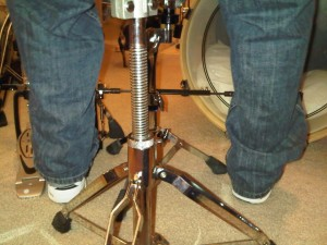 Vex drumming rear view